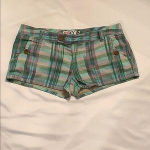 Foxy Plaid Short Shorts size 9